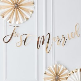 BANNER | just married - guld