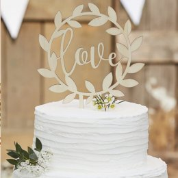 CAKE TOPPER | love - trä