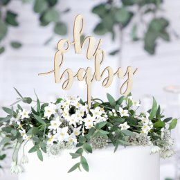 CAKE TOPPER | oh baby - trä