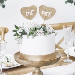 CAKE TOPPERS | mr & mrs - juteväv