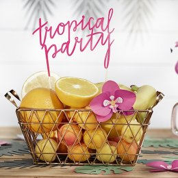 CAKE TOPPER | tropical party