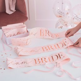 SASHES 6-PACK | team bride - blush