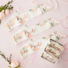 SASHES 6-PACK | team bride - blommor
