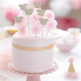CAKE TOPPERS | rosa tyll