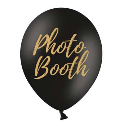 BALLONGER 3-PACK | photo booth - svart