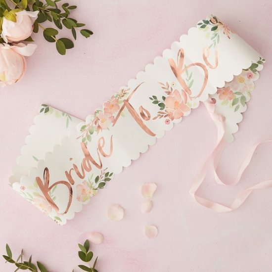 BRIDE TO BE SASH | blommor