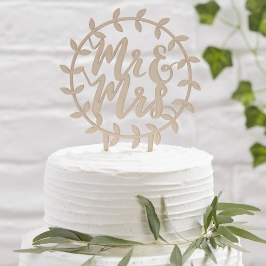 CAKE TOPPER | mr & mrs - rund