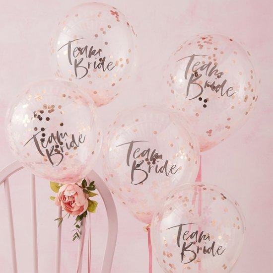 KONFETTIBALLONGER 5-PACK | team bride