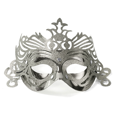 MASK | ornament - silver